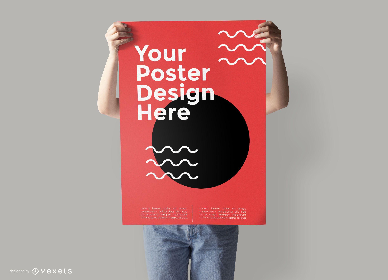 Póster Diseño de maqueta PSD