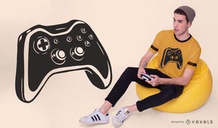 Design de camiseta de controlador de jogo