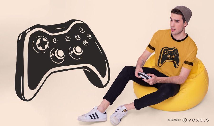 Design de camiseta do controlador de jogo