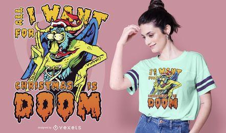 Diseño de camiseta Christmas Demon
