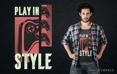 Design de camisetas com citações para jogos