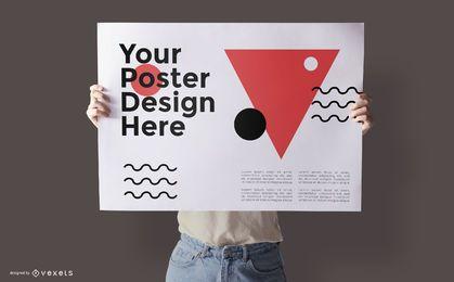 Design de maquete de cartaz psd