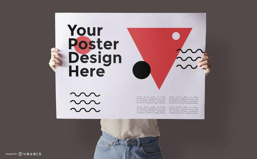Poster Design Mockup Psd Template