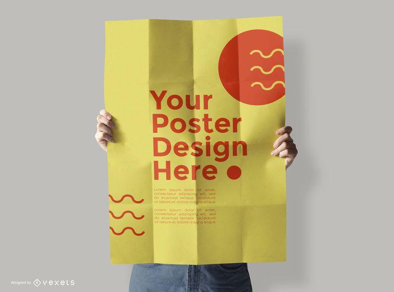 Poster mockup model design