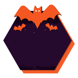 Bat badge sticker