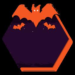 Etiqueta engomada de la insignia de murciélago