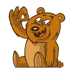 Bear gesture flat
