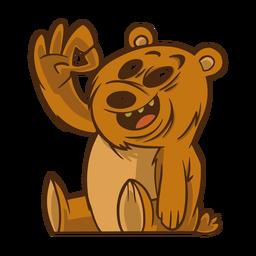 Gesto de oso plano