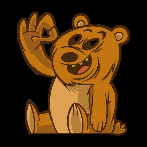 Gesto de urso liso Transparent PNG