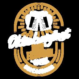 Insignia del logotipo del emblema del festival de la cerveza