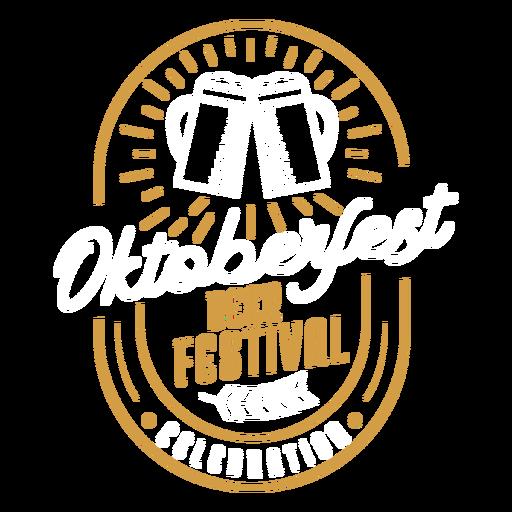 Adesivo de distintivo de logotipo de emblema de festival de cerveja Transparent PNG