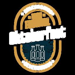 Insignia del emblema del logotipo del festival de la cerveza