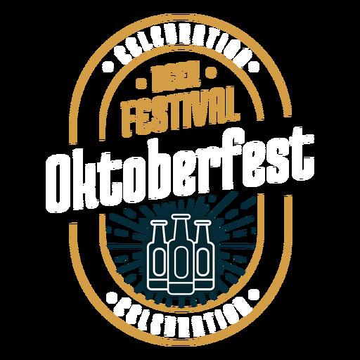 Beer festival logo emblem badge sticker Transparent PNG