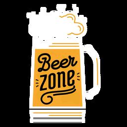 Etiqueta de la zona de cerveza
