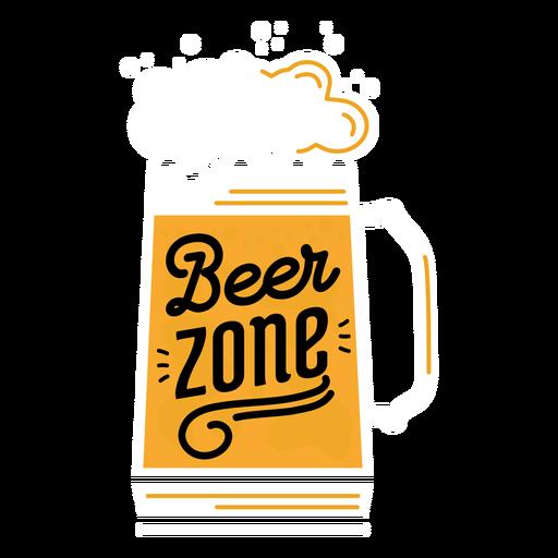 Adesivo de zona de cerveja