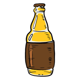 Beer bottle label flat