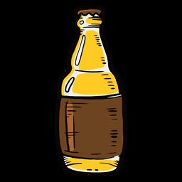 Etiqueta de botella de cerveza plana