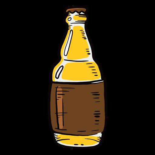 Etiqueta de botella de cerveza plana Transparent PNG