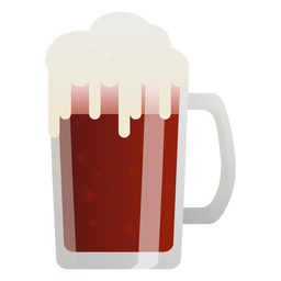Beer dark foam glass flat