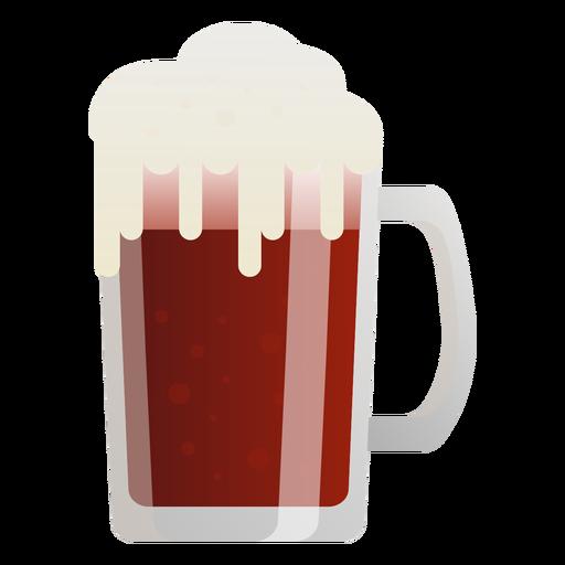Beer dark foam glass flat Transparent PNG