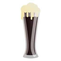 Beer dark glass foam flat