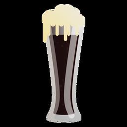 Bier dunkler Glasschaum flach