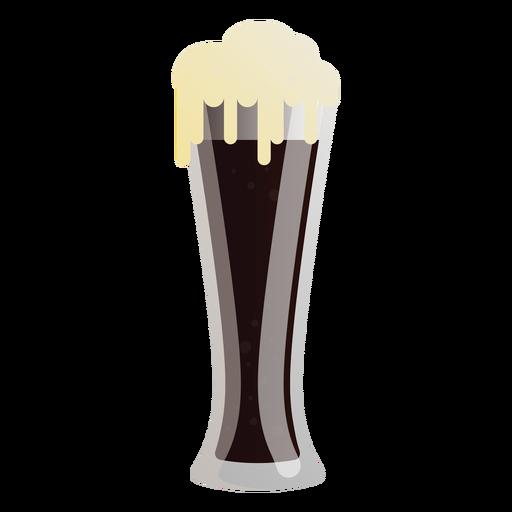 Cerveza oscura espuma de vidrio plano Transparent PNG