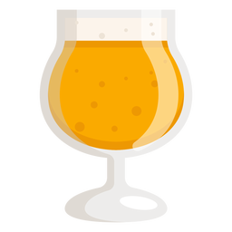 Bier Schaumglas Licht flach