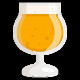 Cerveza espuma cristal luz plana