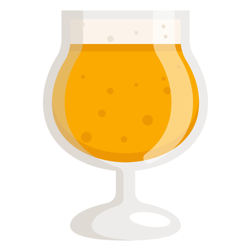 Beer foam glass light flat Transparent PNG
