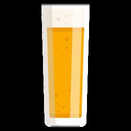 Bier Schaum leichtes Glas flach