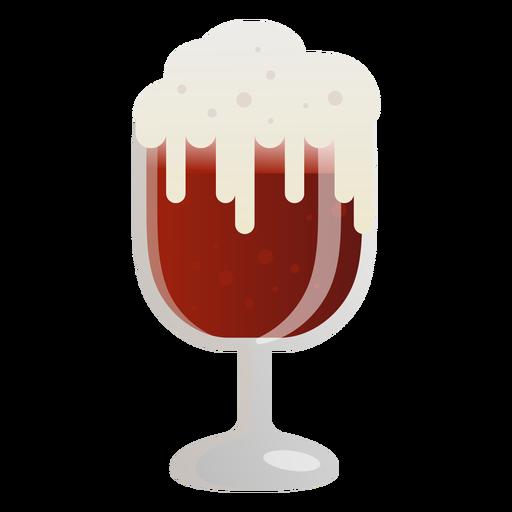 Copo de cerveja espuma escura plana Transparent PNG