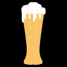 Vaso de cerveza silueta detallada