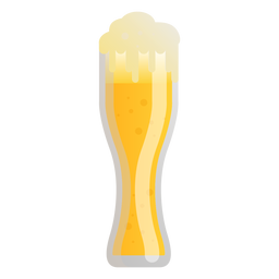 Beer glass foam light flat
