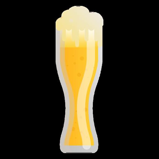 Beer glass foam light flat