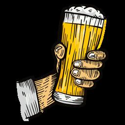 Ilustración de mano de vaso de cerveza