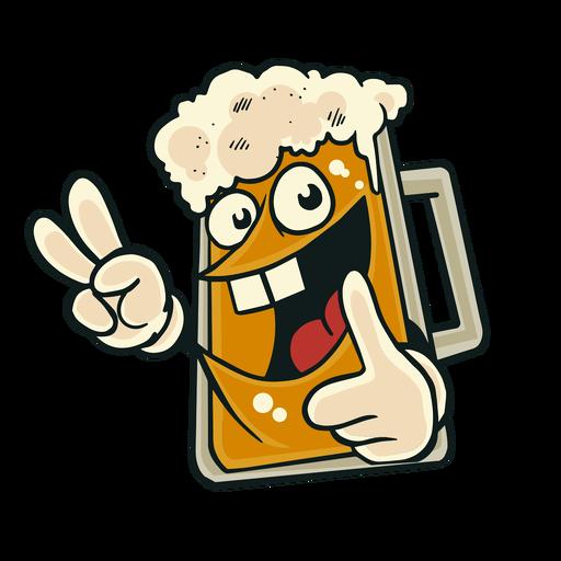 Bierglaslächeln-Abzeichenaufkleber Transparent PNG