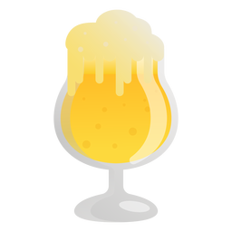Beer light foam glass flat