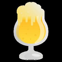 Vidro de espuma leve cerveja plana