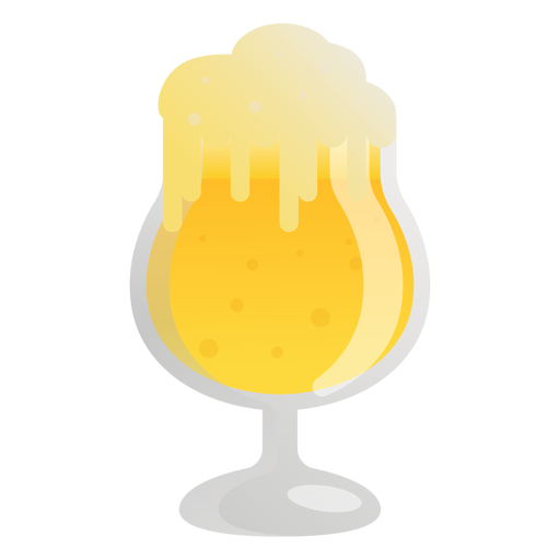 Beer light foam glass flat Transparent PNG