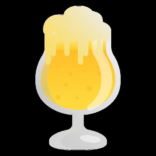 Vidro de espuma leve cerveja plana Transparent PNG