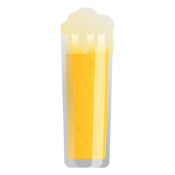 Beer light glass foam flat