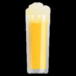 Cerveza luz vidrio espuma plana