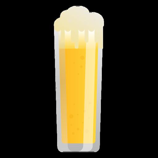 Beer light glass foam flat Transparent PNG