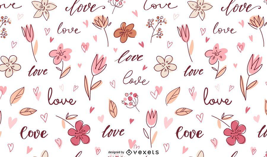 Amor Doodle Design Padrão