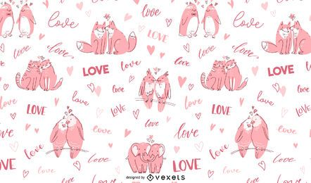 Animal Love Pattern Design