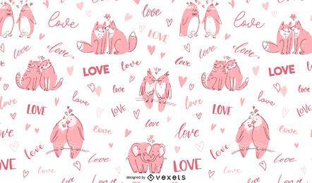 Diseño de patrón de amor animal