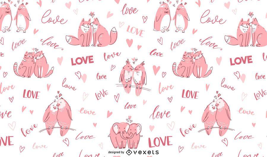 Animal Love Pattern Design