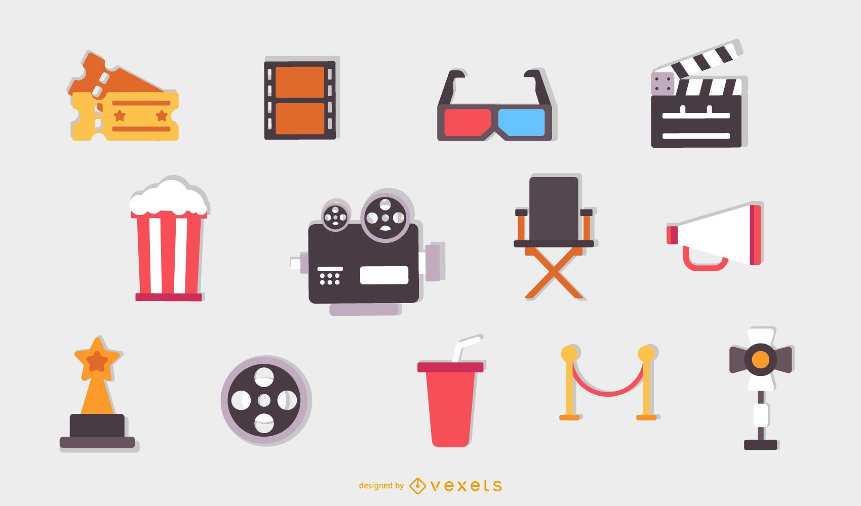 Coleção de ícones de cinema