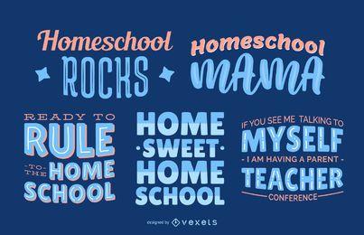 Conjunto de letras de Homeschool
